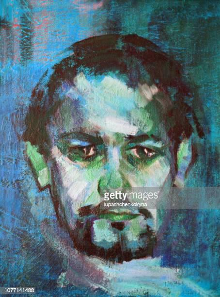 若い男の美しい肖像画 - 精油点のイラスト素材/クリップアート素材/マンガ素材/アイコン素材