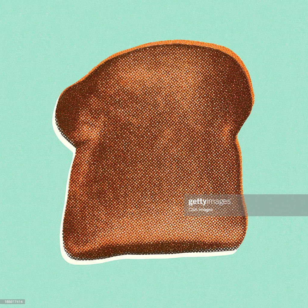 Piece of Bread : stock illustration