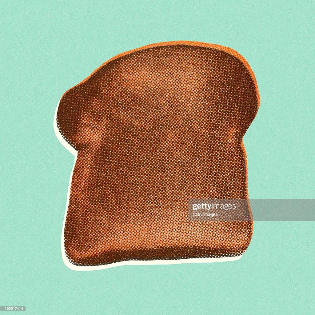 Piece of Bread : stock illustration