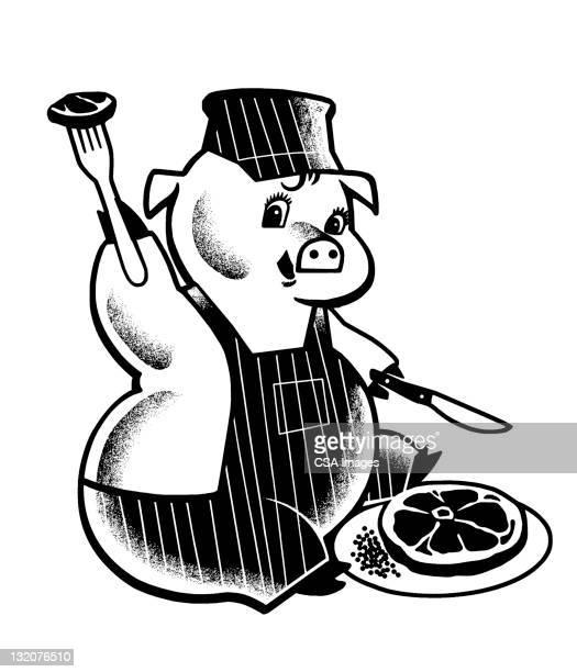 Pig Eating