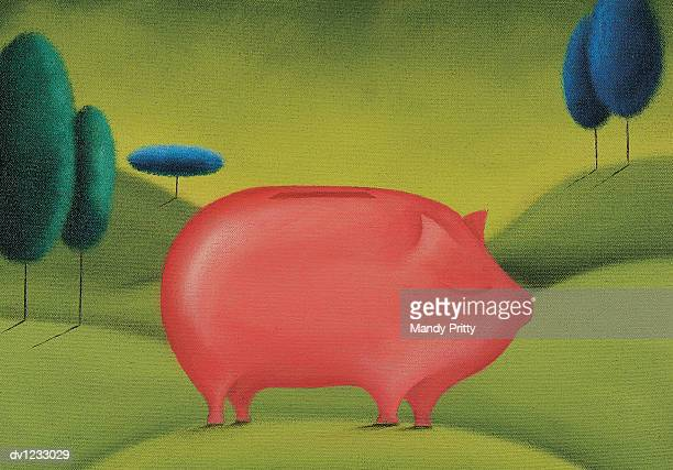 piggy bank - mandy pritty stock illustrations