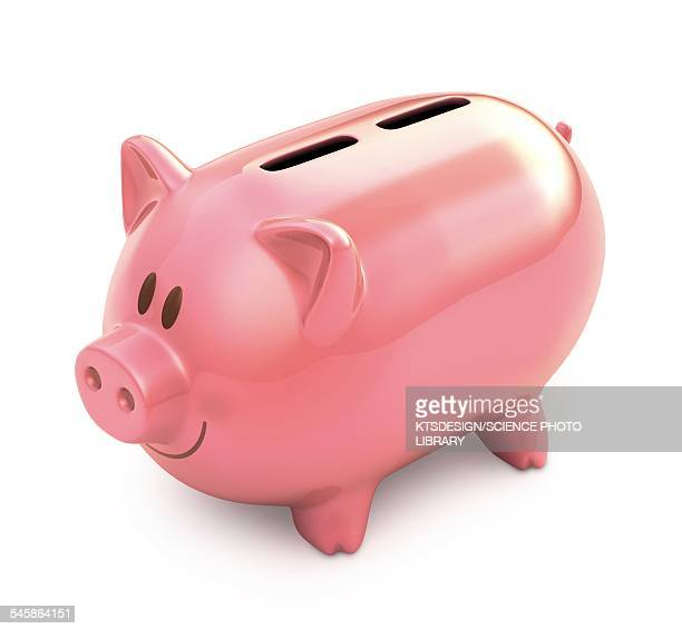 piggy bank with two slots, illustration - finanzen stock illustrations