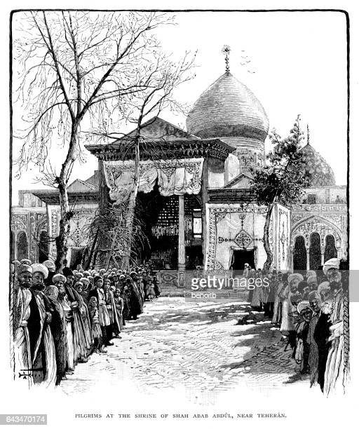 Pilgrims at the Shrine of Shah Abab Abdul