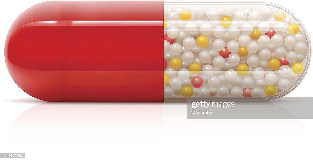 Pill : stock illustration