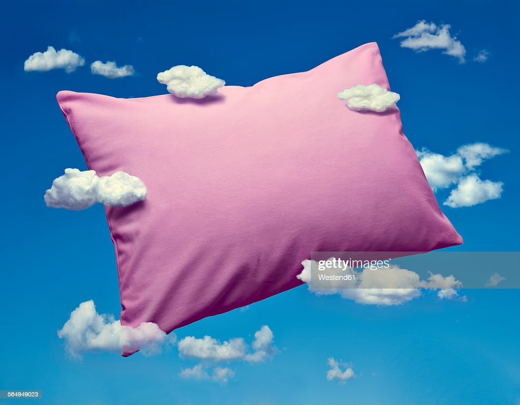 Pillow and clouds, dreaming and sleep : stock illustration