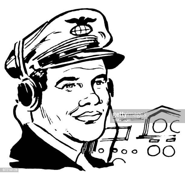 pilot - traffic stock illustrations