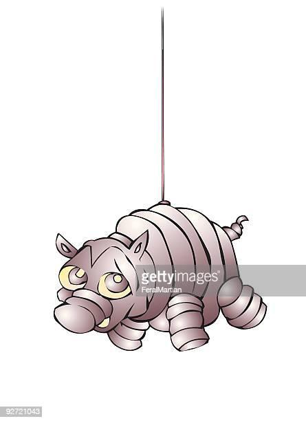 ilustrações, clipart, desenhos animados e ícones de pinata porco - pinata