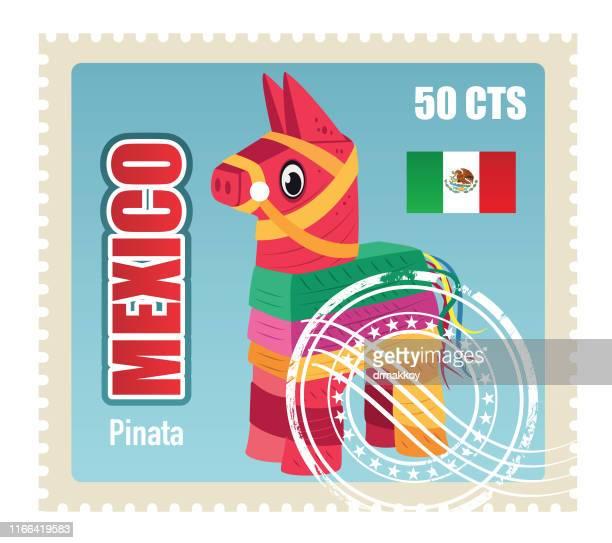 ilustrações, clipart, desenhos animados e ícones de selo do pinate - pinata