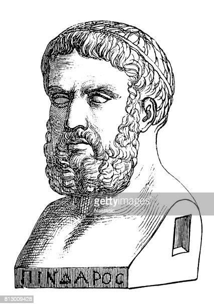 ilustraciones, imágenes clip art, dibujos animados e iconos de stock de píndaro (alrededor de 518 – hacia el año 438 a.c.), poeta lírico griego - filosofos griegos
