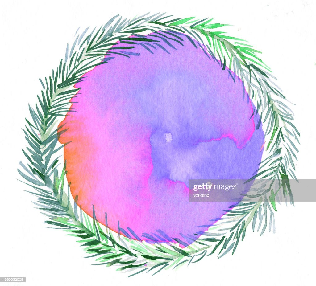 Kiefer Blätter, Aquarell : Stock-Illustration