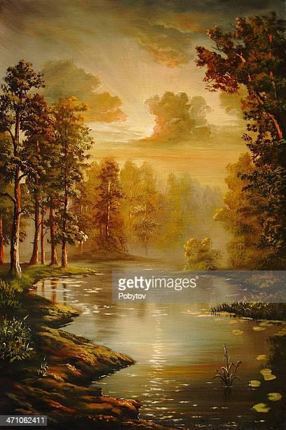 Pines at water
