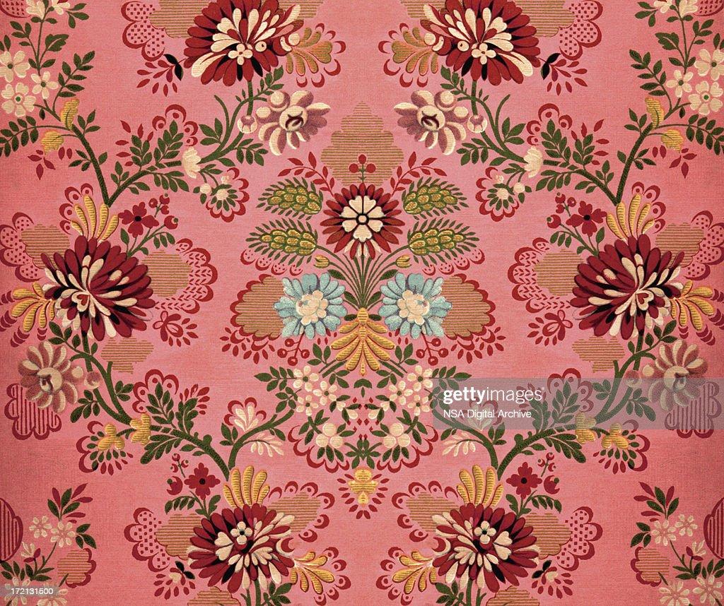 Pink Baroque Decoration : Stock Illustration