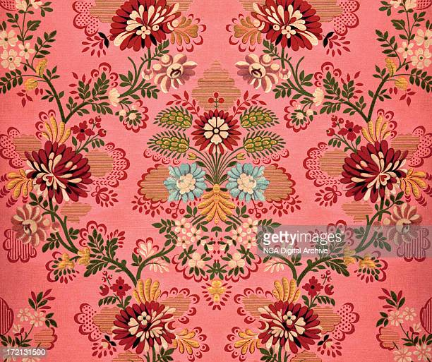 pink baroque decoration - floral pattern stock illustrations