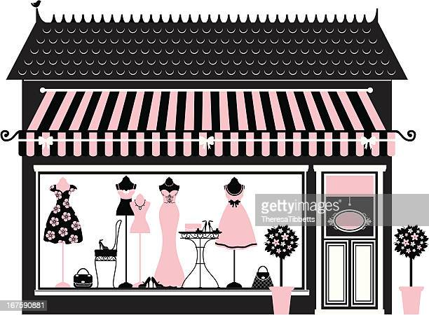 pink fashion boutique - mannequin stock illustrations, clip art, cartoons, & icons