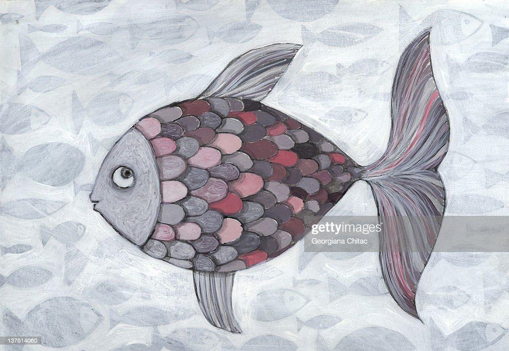 Pink fish : Ilustración de stock