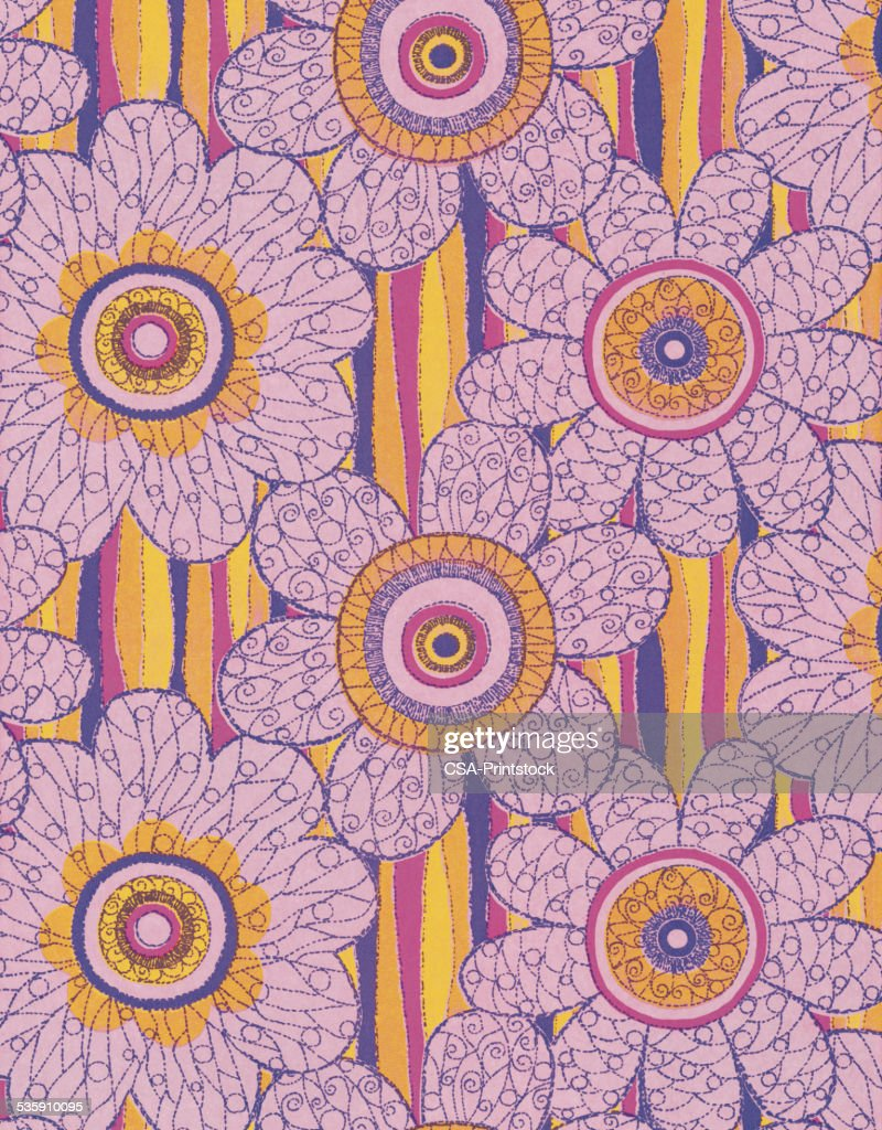 Pink Flower Pattern : Stock Illustration