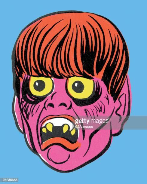 pink monster - bizarre stock illustrations
