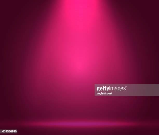 stockillustraties, clipart, cartoons en iconen met pink scene spotlights -  background - fotosessie