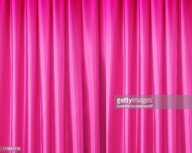 Pink stage curtain