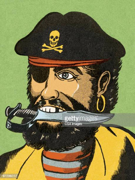 pirate - pirate criminal stock illustrations