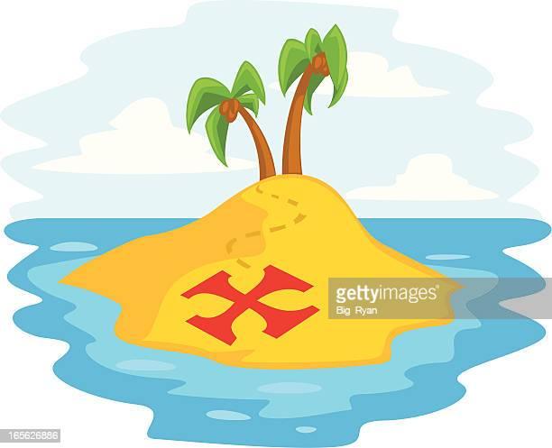 ilustraciones, imágenes clip art, dibujos animados e iconos de stock de pirate isla de - mapa del tesoro
