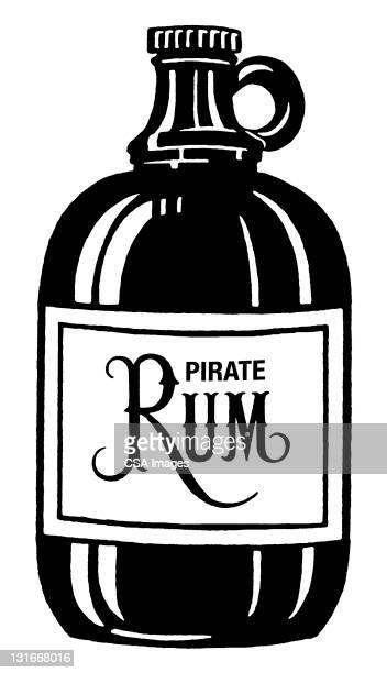 pirate rum jug - jug stock illustrations, clip art, cartoons, & icons