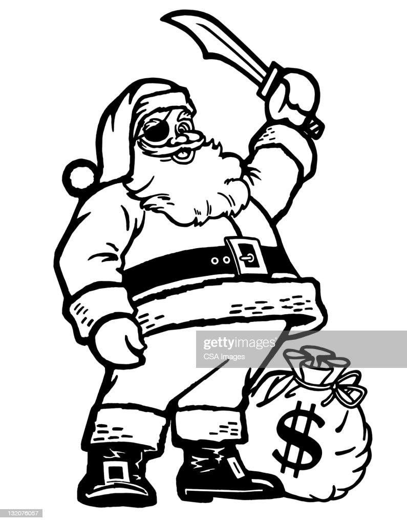 1a3580ce27c1b Pirate Santa Claus Stock Illustration - Getty Images