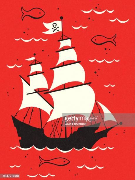 海賊船プレーグラウンド - 海賊旗点のイラスト素材/クリップアート素材/マンガ素材/アイコン素材