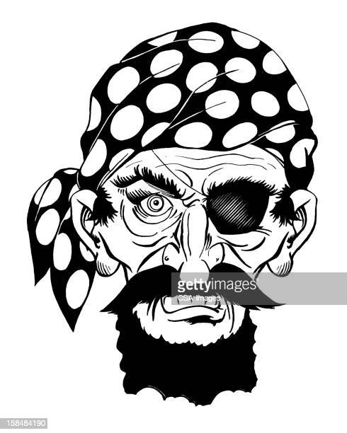 Pirate Wearing Head Scarf