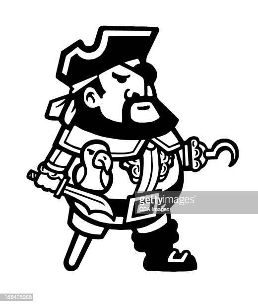 Pirate con gancho y clavija de piernas