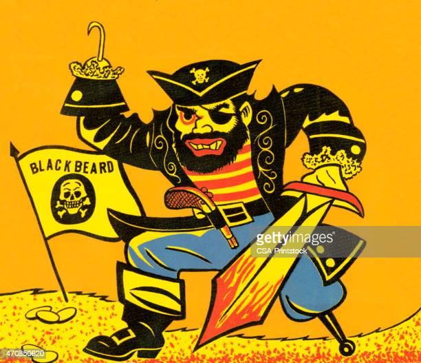 Pirate con gancho y espada