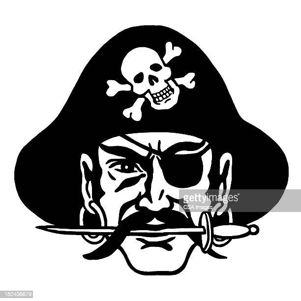 Pirate With Knife in His Teeth