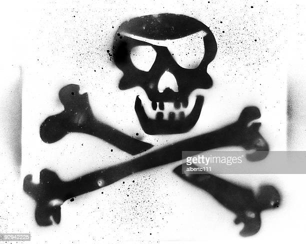 pirates life for me - stencil stock illustrations