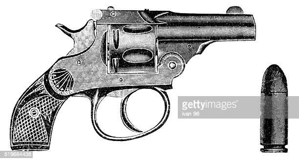 pistol - handgun stock illustrations