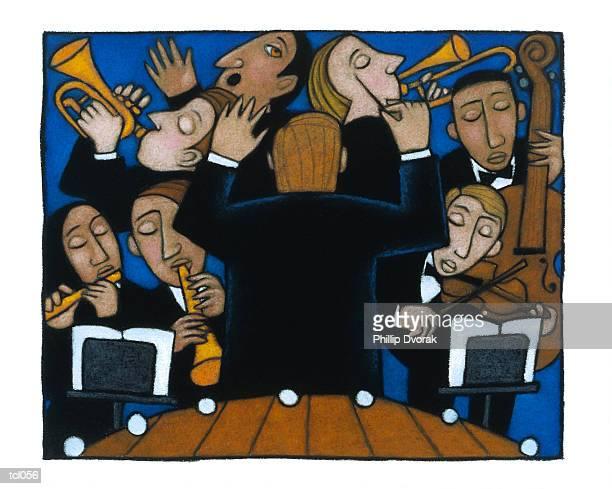 illustrations, cliparts, dessins animés et icônes de pit orchestra - pupitre à musique