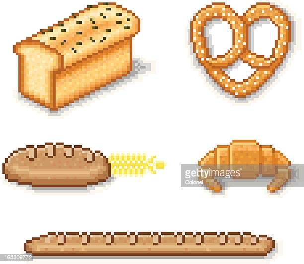 Pixel Art Bread