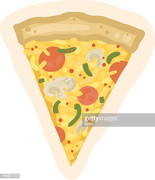 pizza slice - cheddar cheese stock illustrations, clip art, cartoons, & icons