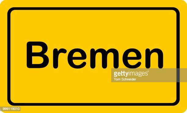place-name sign --bremen-- - politics and government stock illustrations, clip art, cartoons, & icons