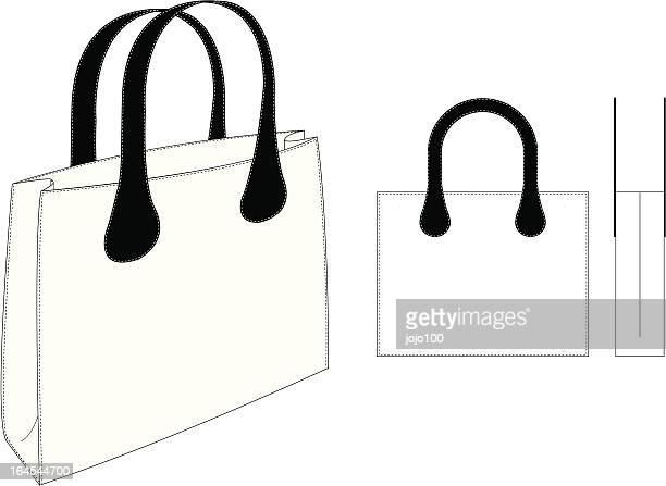 トートバッグのイラスト素材と絵 getty images