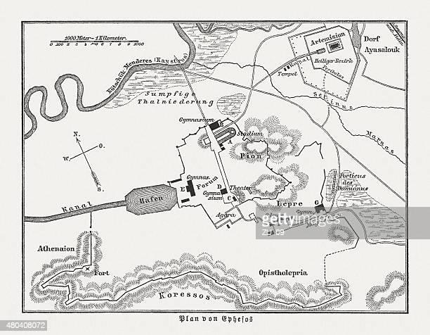 Plan of Ephesus, published in 1880