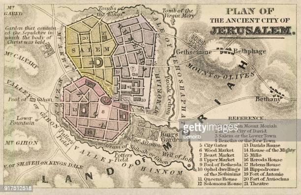 Plan of the ancient city of Jerusalem