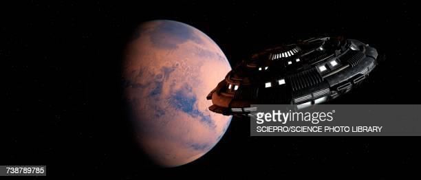 illustrations, cliparts, dessins animés et icônes de planet and space craft, illustration - extraterrestre