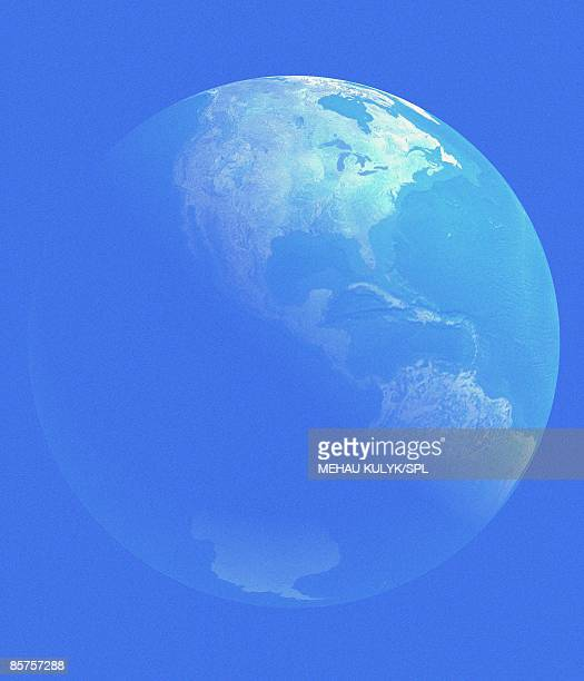 planet earth, view from space - satellite view stock illustrations