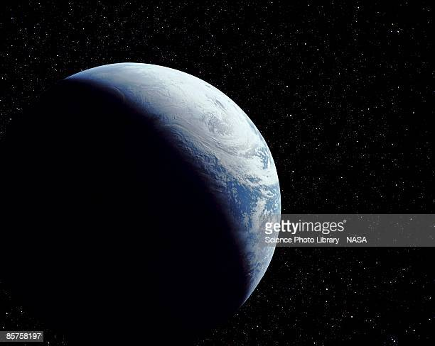 planet earth, view from space - planet earth stock illustrations