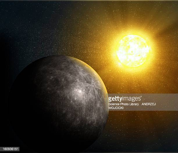 planet mercury, artwork - mercury planet stock illustrations