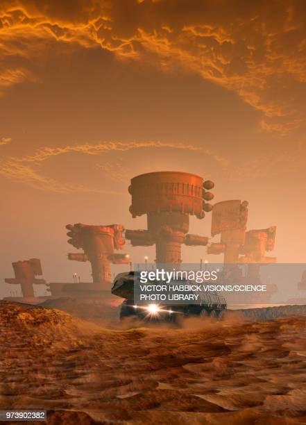 Planet surface, illustration