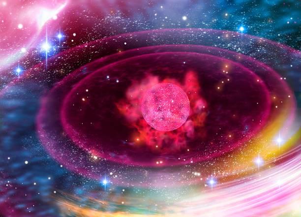 Planetary formation, conceptual artwork