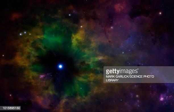 planetary nebula, illustration - astrophysics stock illustrations