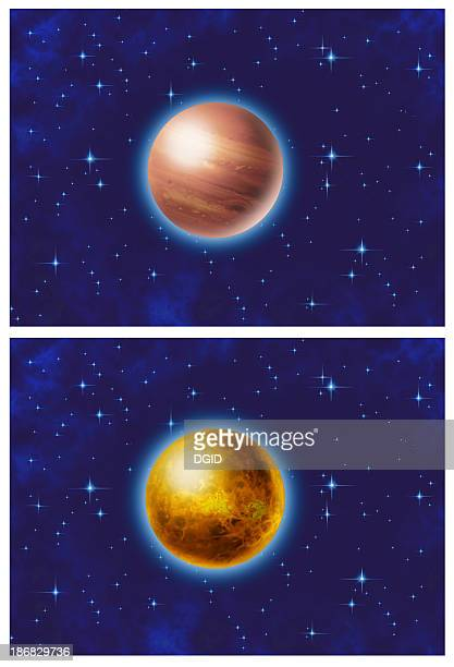2 planets in Space [ Airbrush ]