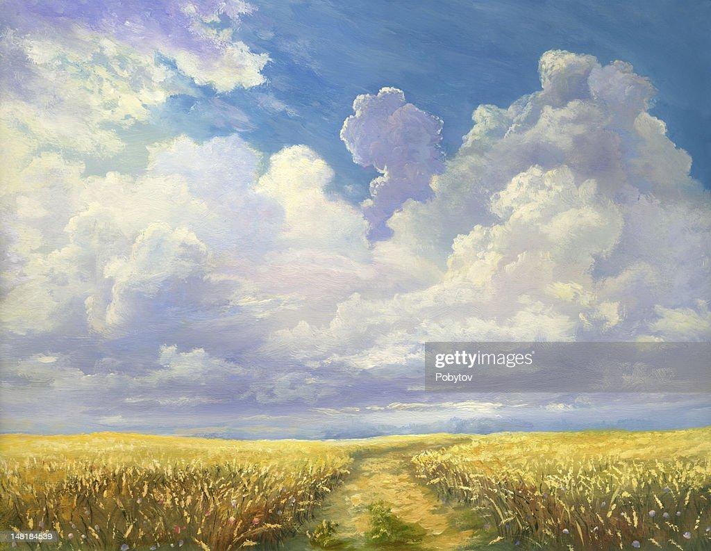 Plant of wheat : Stock Illustration